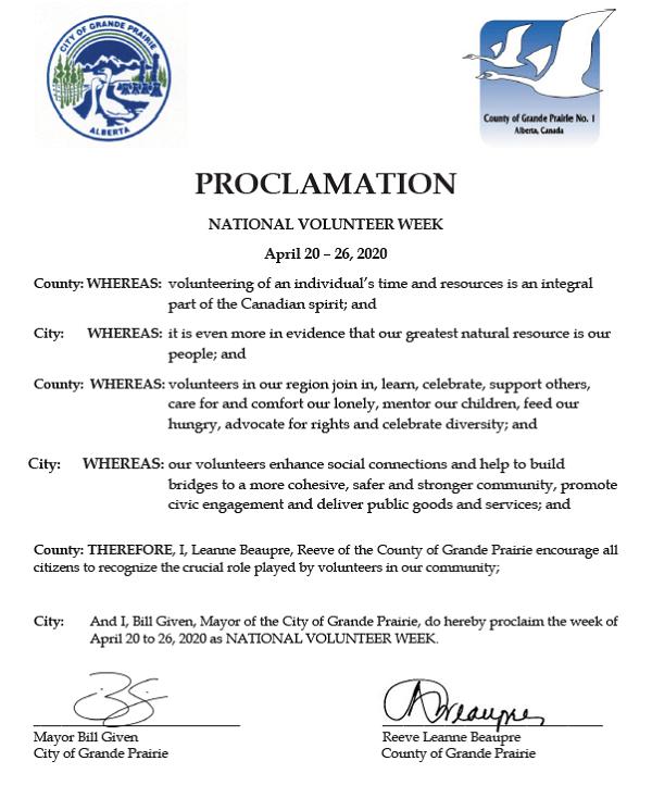 2020 National Volunteer Week Proclamation