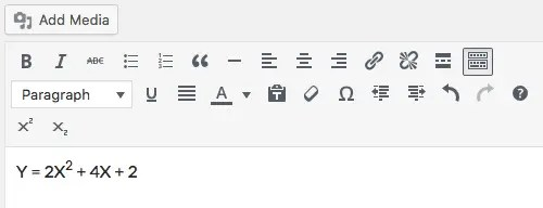 The image shows two extra buttons added to the third row of TinyMCE toolbar