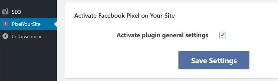 pixel id activate settings