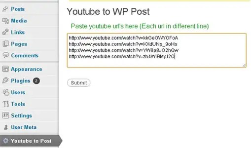 youtube to wp post plugin