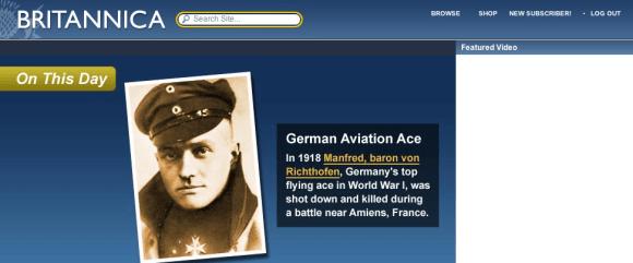 Britannica screen shot