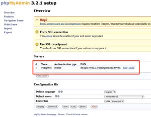 phpMyAdmin 3.2.1 setup