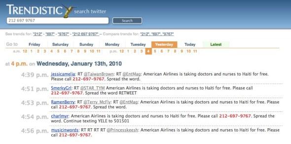 Haiti-AA Tweet History