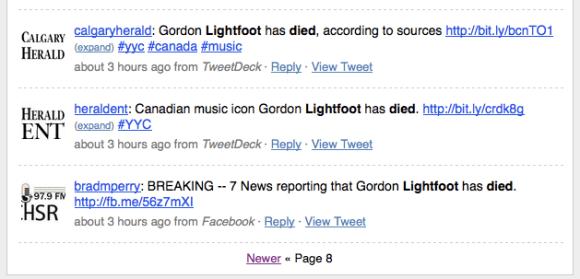 Gordon Lightfoot Search
