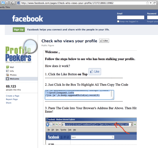 Facebook Profile Peekers