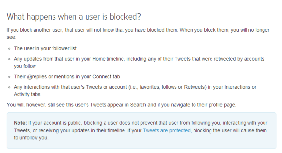 Twitter Blocking Policy Dec 2013