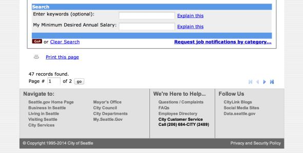 Seattle job search