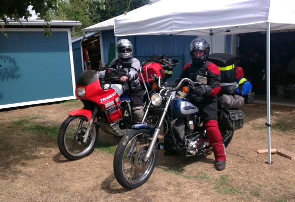 I rode my motorcycle to Alaska