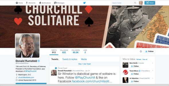 Deconstructing RumsfeldOffice: real or parody Twitter account?