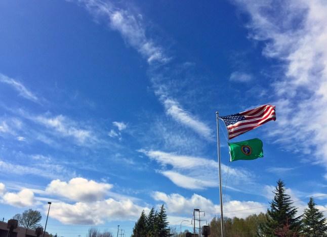 Flags Blue Sky