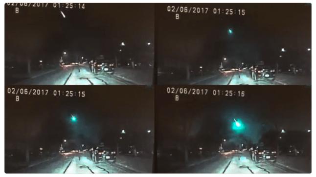 montage of feb 6 meteor