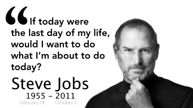 Steve Jobs photo and quote