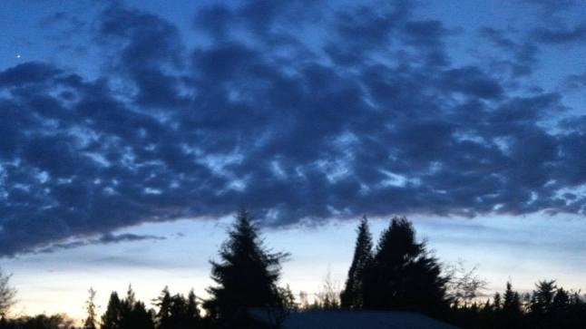sunset in lynnwood 2012