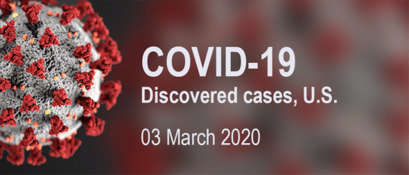 COVID-19 discovered cases – 03 March 2020