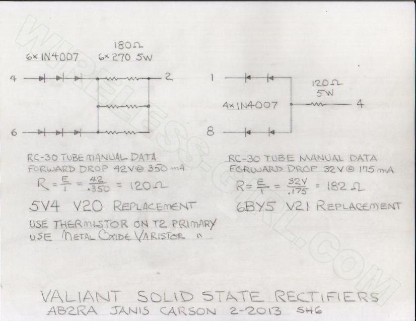 Johnson Valiant Modifications