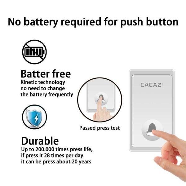 battery free doorbells