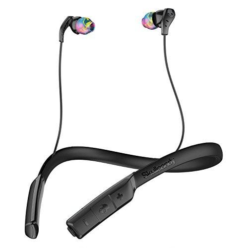 Skullcandy Method Bluetooth Wireless Sport Earbuds with Mic, Black/Swirl