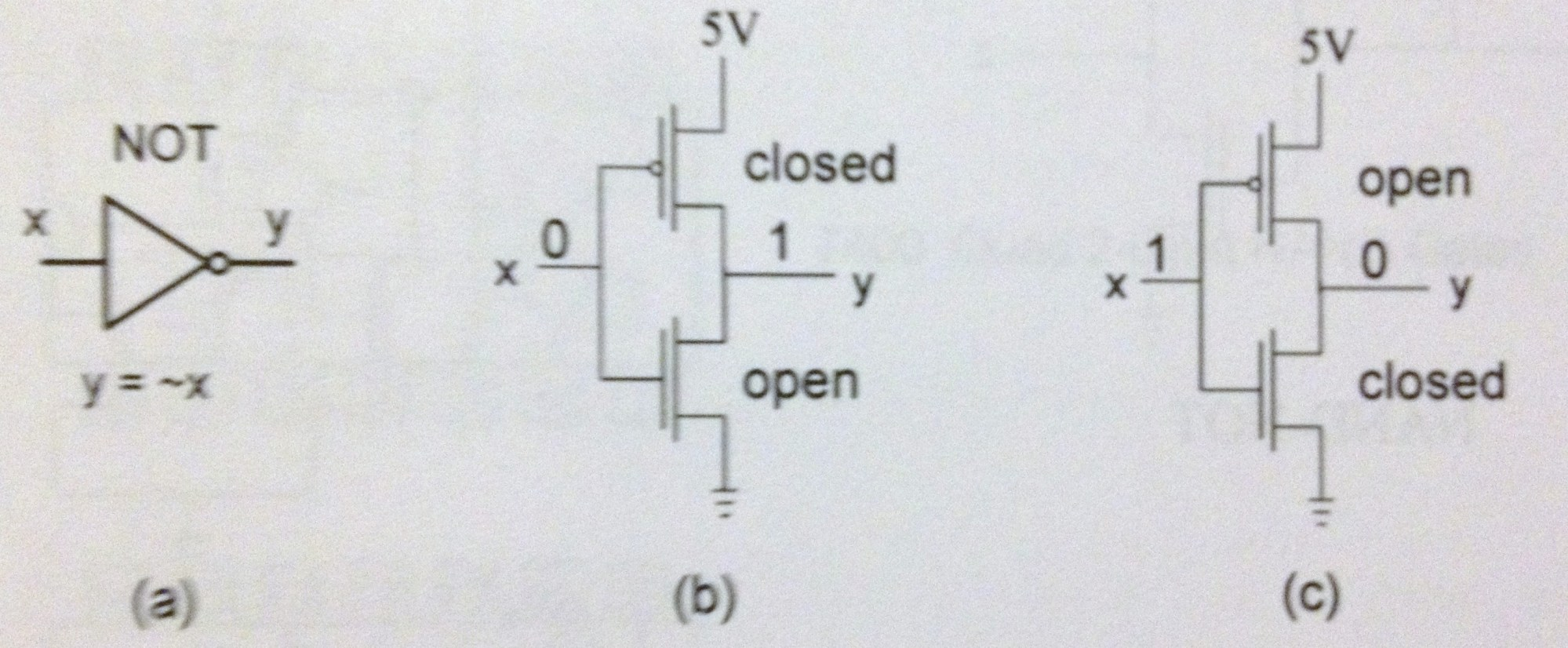 hight resolution of circuit diagram for a not gate