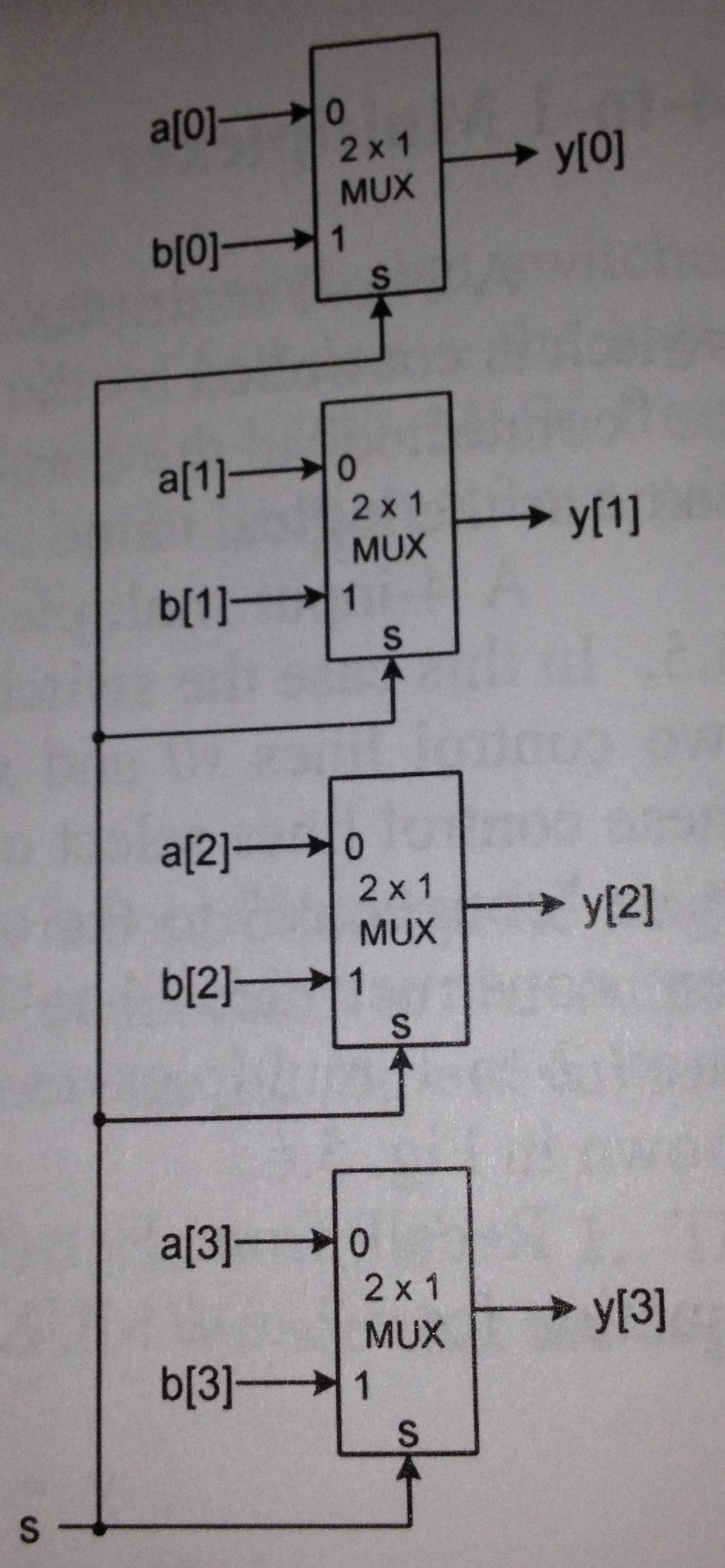 hight resolution of a quad 2 to 1 mux contains four 2 to 1 muxs