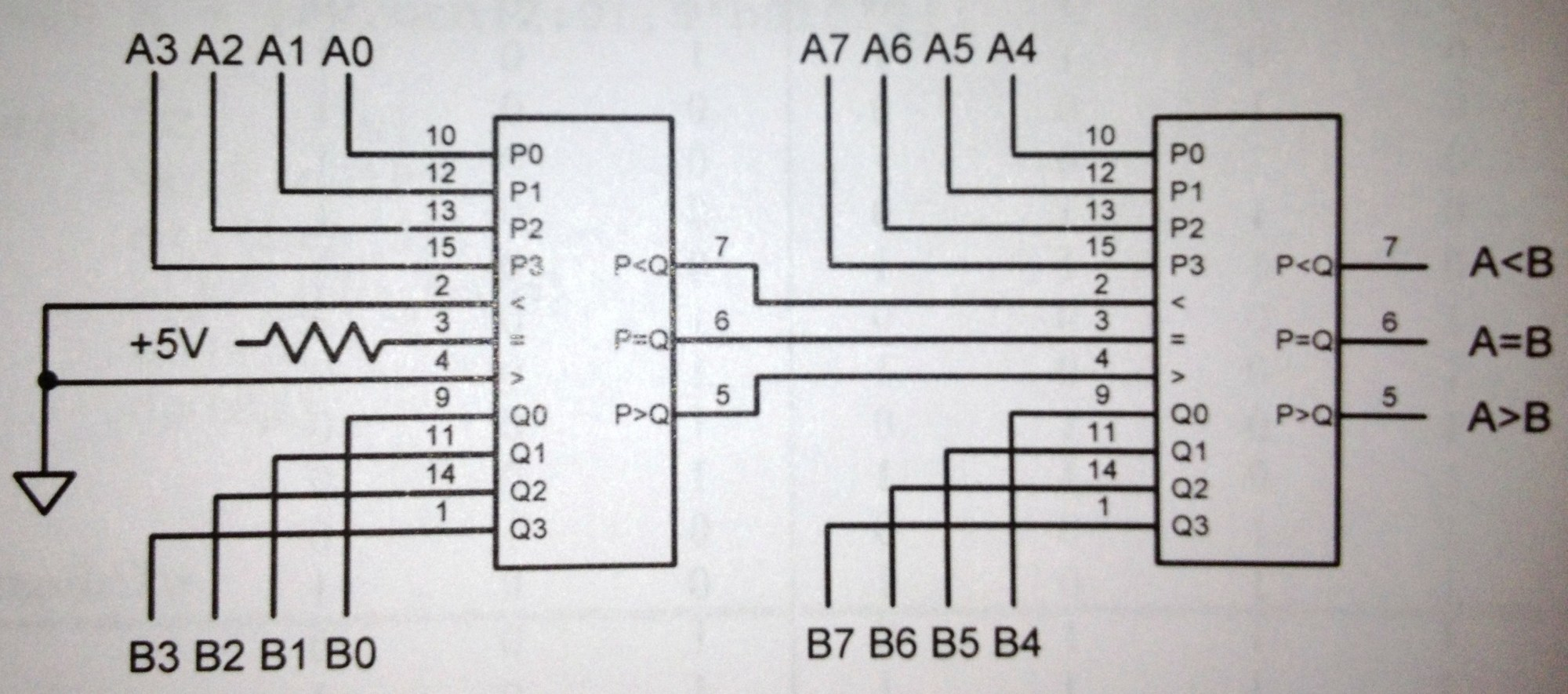 hight resolution of block diagram of 4 bit comparator