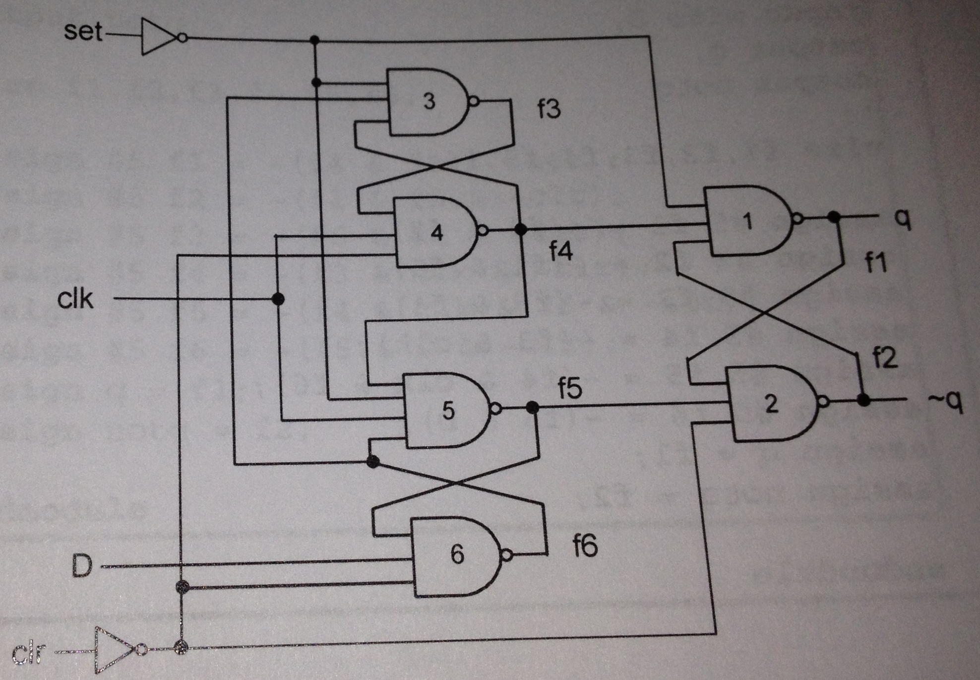 hight resolution of  d flip flop circuit is shown below fig 7 7