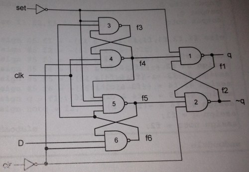 small resolution of  d flip flop circuit is shown below fig 7 7