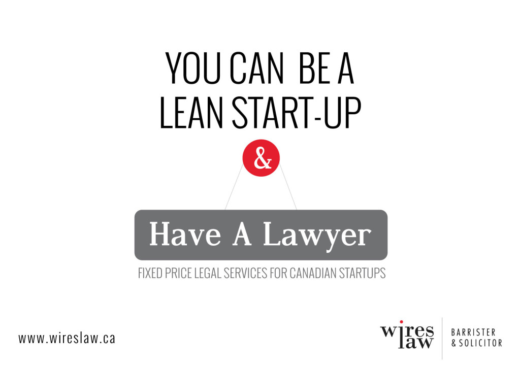 Now you can be a lean startup and have a lawyer