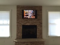 TV over fireplace installation in Colorado Springs - Wire ...
