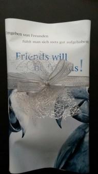 """Kalenderblatt """"Friends will be friends"""""""
