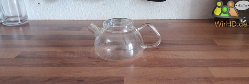 Glas Teekanne.