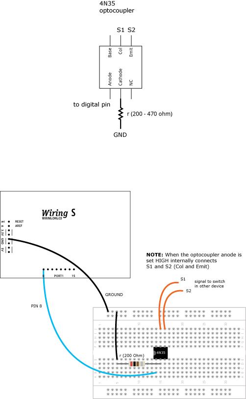 Optocoupler4N35 \ Learning \ Wiring