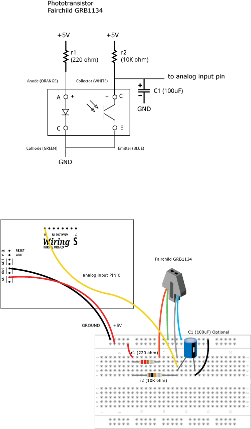 Phototransistor \ Learning \ Wiring