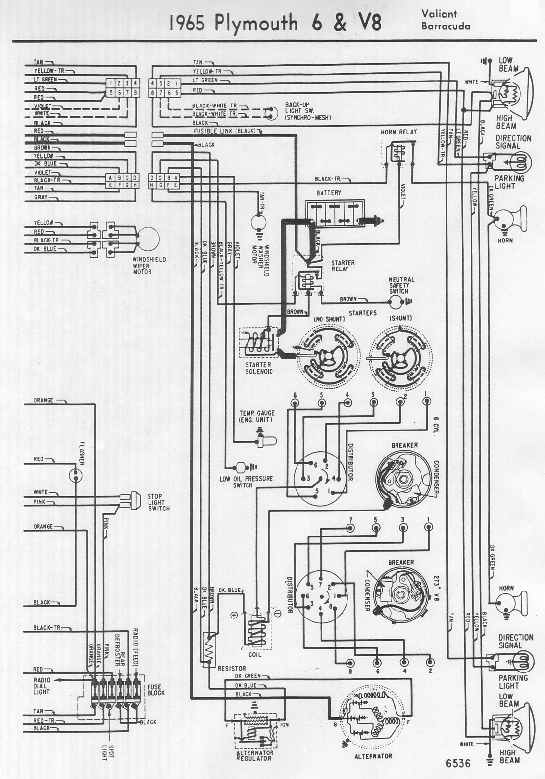 1967 Barracuda Wiring Diagram