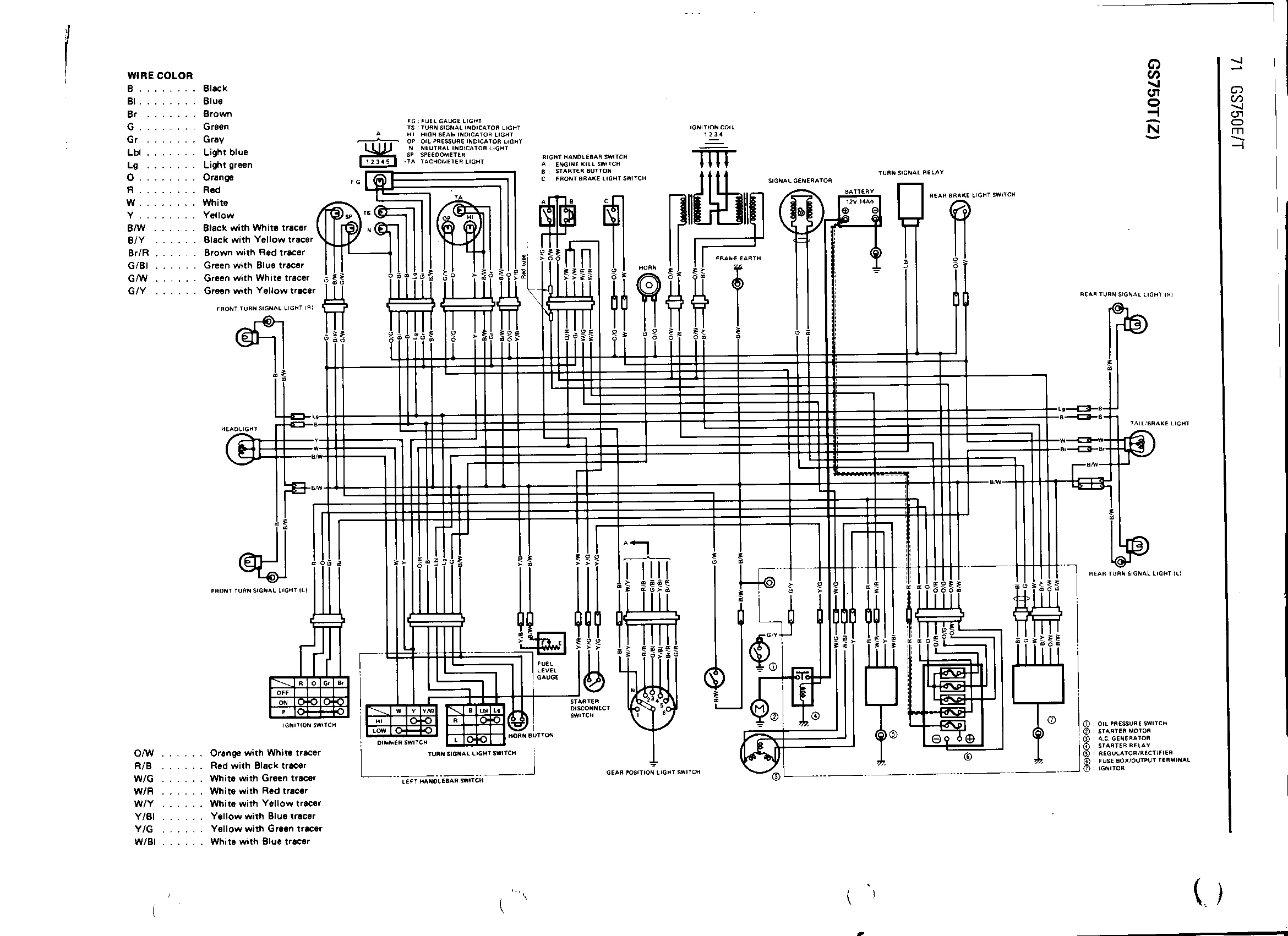1978 Gs550 Wiring Diagram