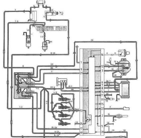 1988 Volvo 240 Voltmeter Wiring Diagram