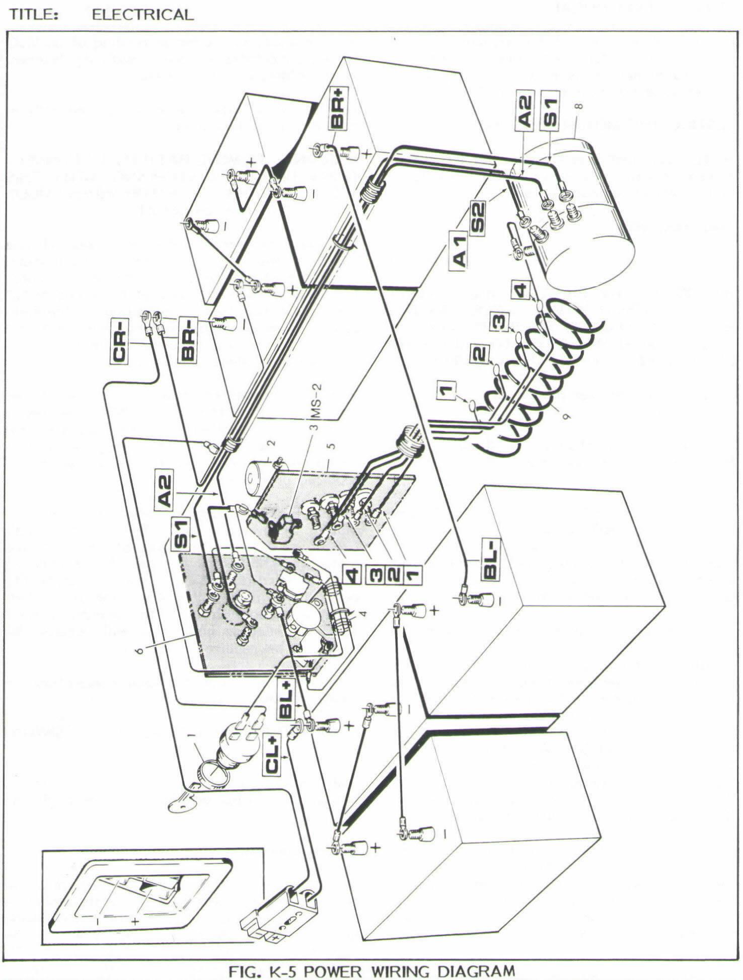 5 Ezgo Medalist Electric Golf Cart Wiring Diagram