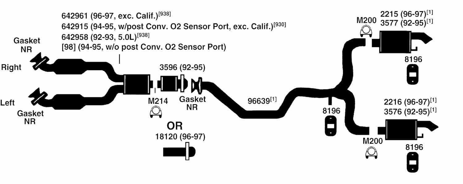 1998 Ford Escort Exhaust System Diagram