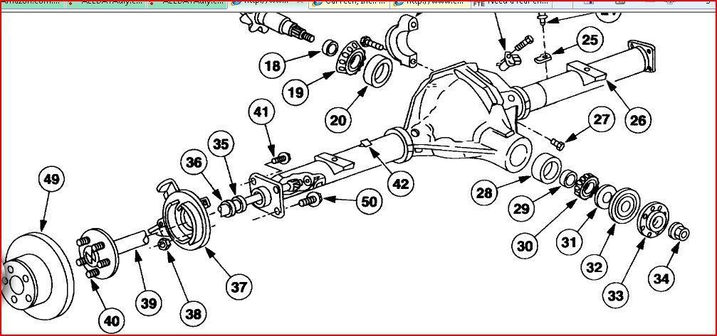 2000 Chevy Silverado Rear Differential Exploded Diagram