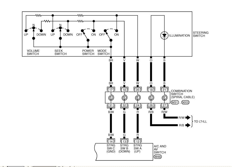 2002 Infiniti I35 Steering Wheel Control Wiring Diagram