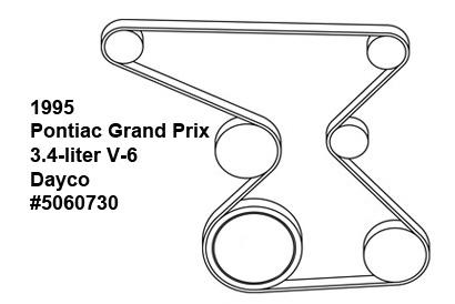 2004 Pontiac Grand Prix Serpentine Belt Routing
