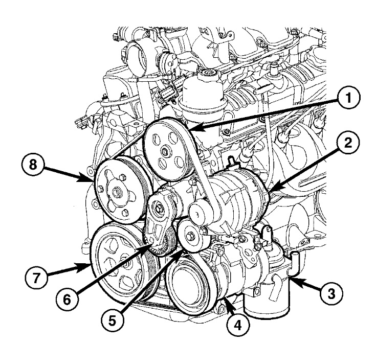 2005 Dodge Ram 1500 4.7 Serpentine Belt Diagram