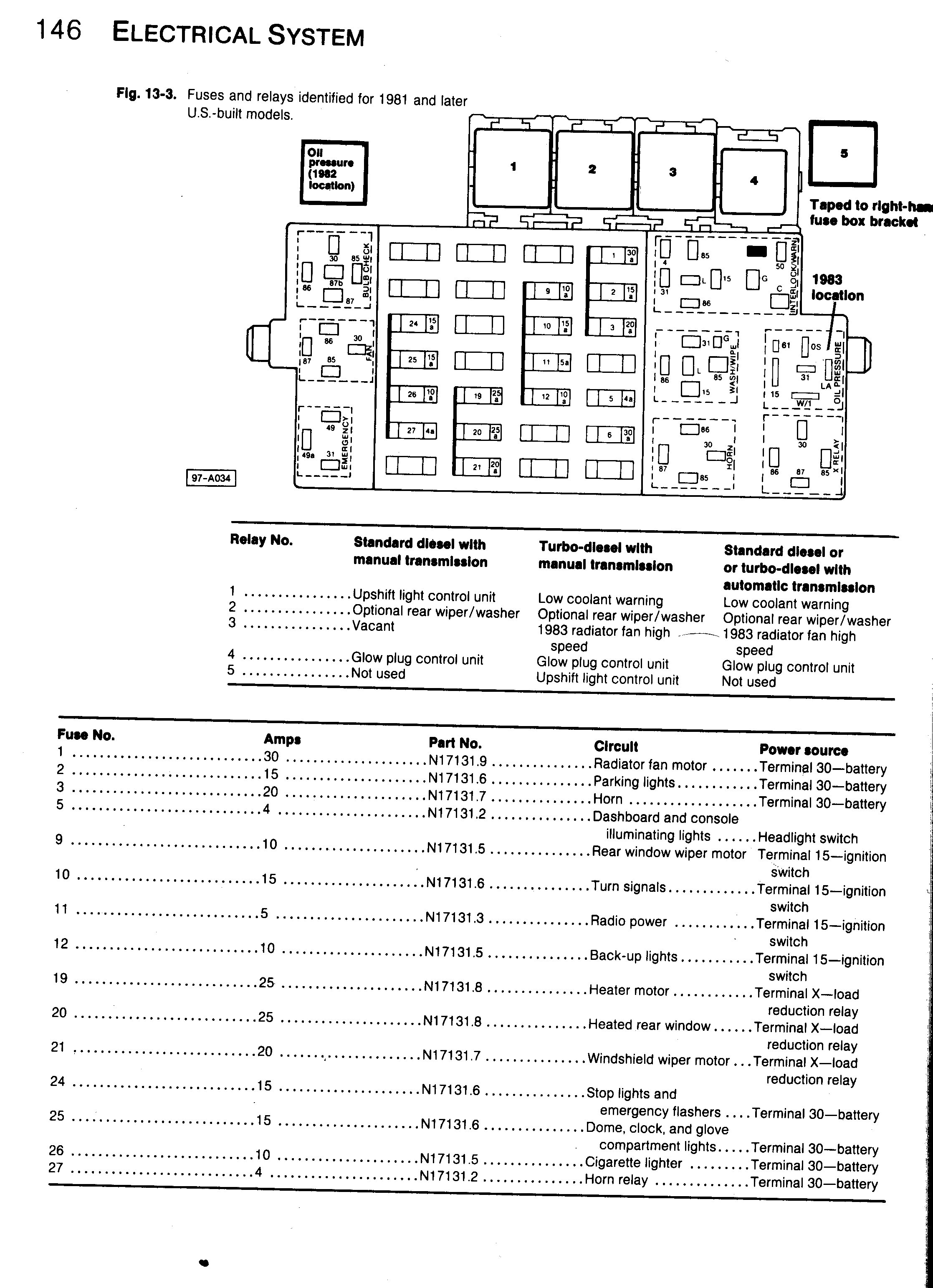 2006 Vw Jetta 2.5 Fuse Box Diagram