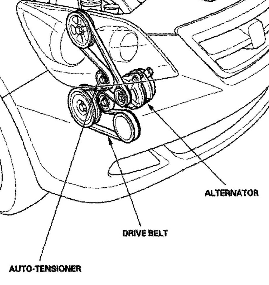 2007 Honda Odyssey Serpentine Belt Diagram