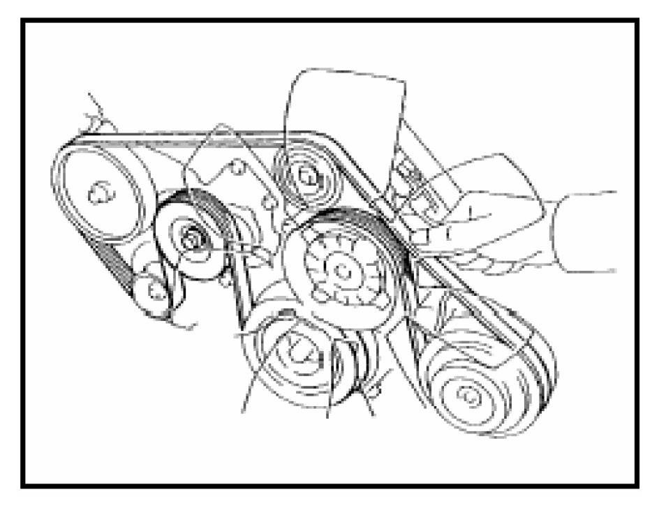 2007 Toyota Tundra 5.7 Serpentine Belt Diagram