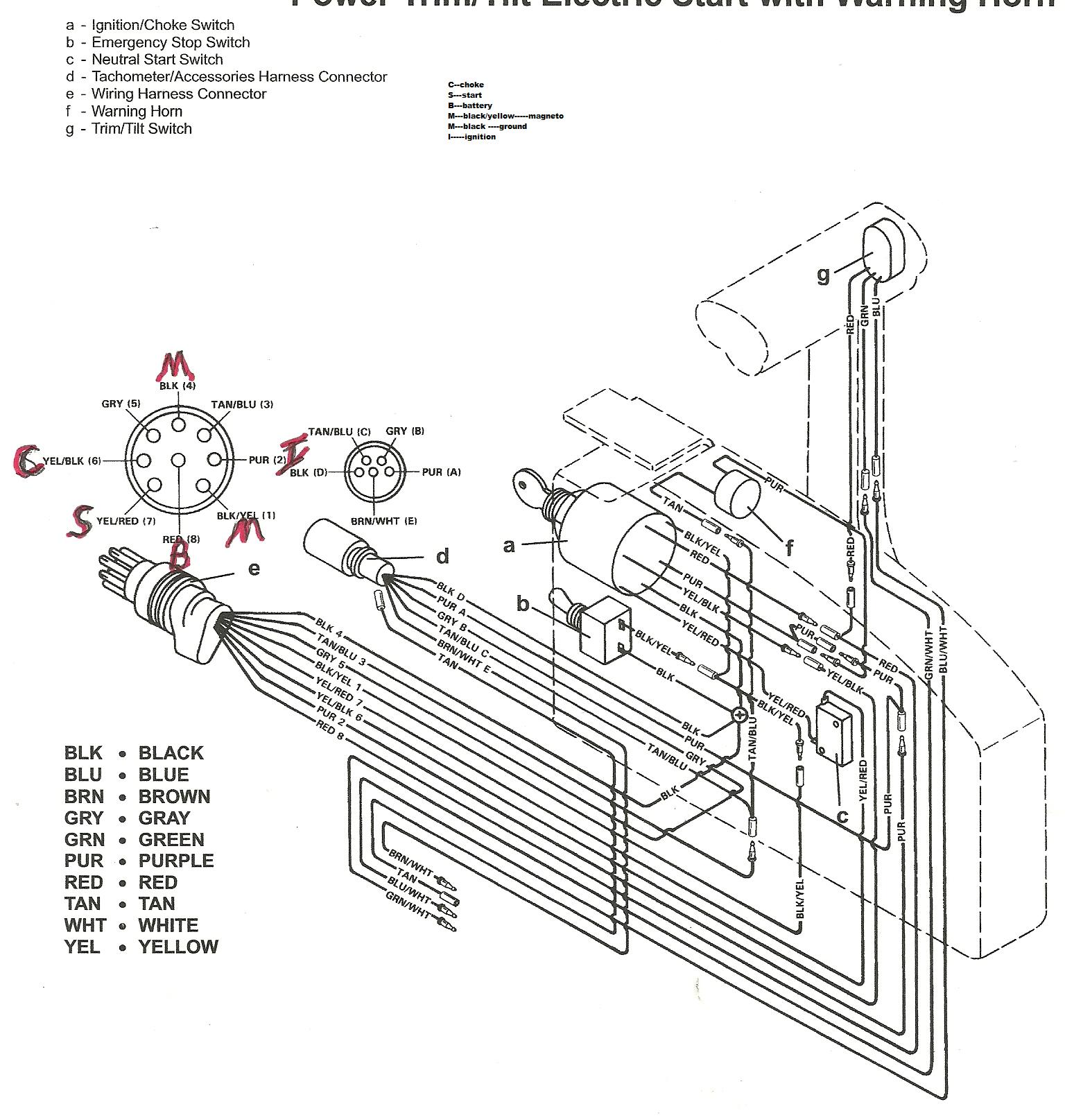 50 Hp Mercury Wiring Diagram