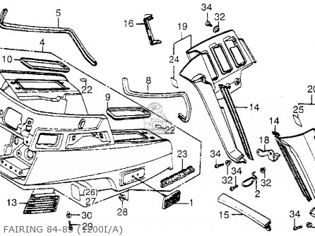 84 Gl1200 Fairing Wiring Diagram