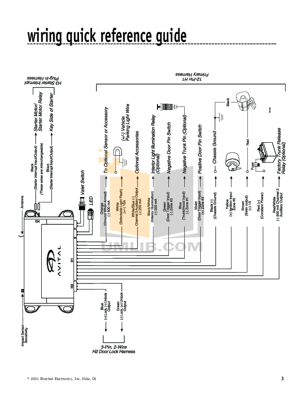 Avital 4113 Wiring Diagram