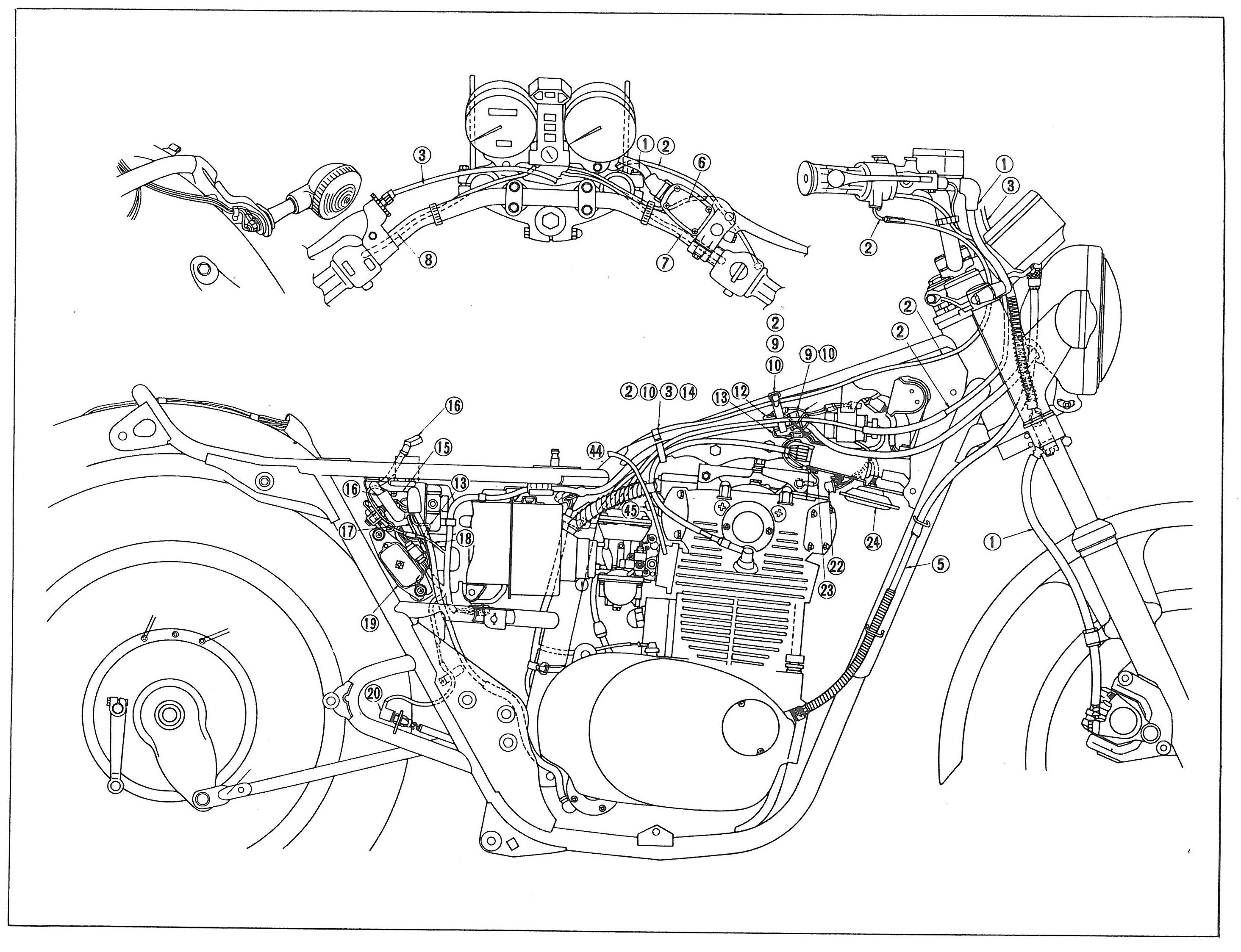 Color Schematics Yamaha Xs650 Wiring Diagram
