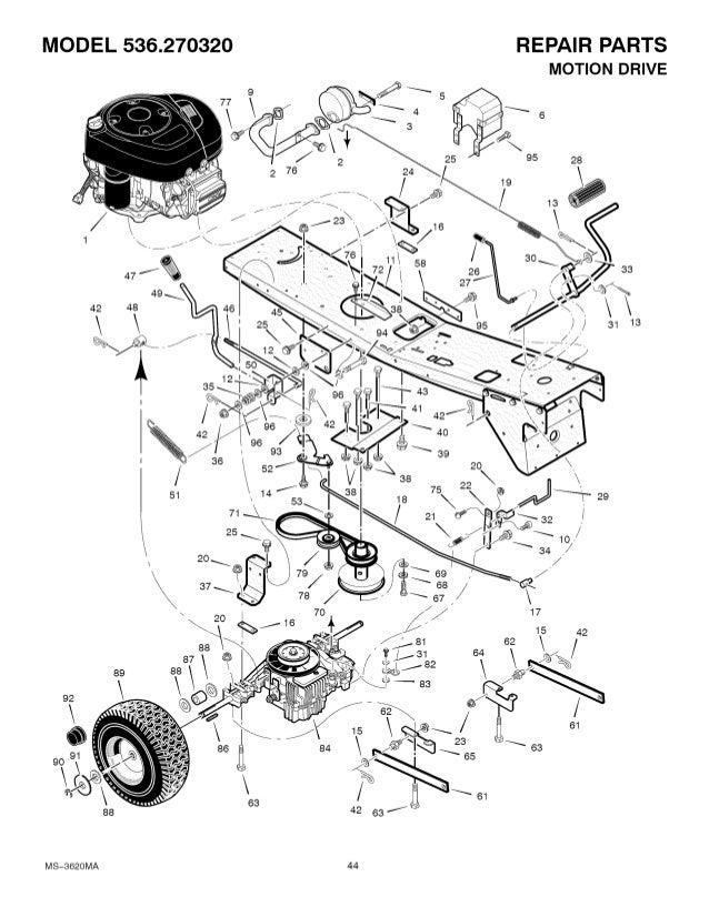 Craftsman Model 536.270320 Wiring Diagram