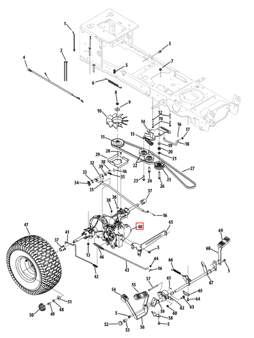 small resolution of cub cadet 1054 schematic